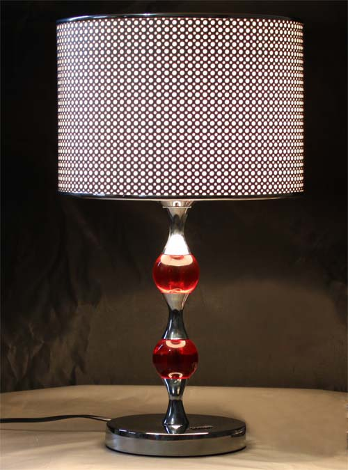 Film Shiny Laser Cover K9 Crystal Shaft Chrome Table Lamps