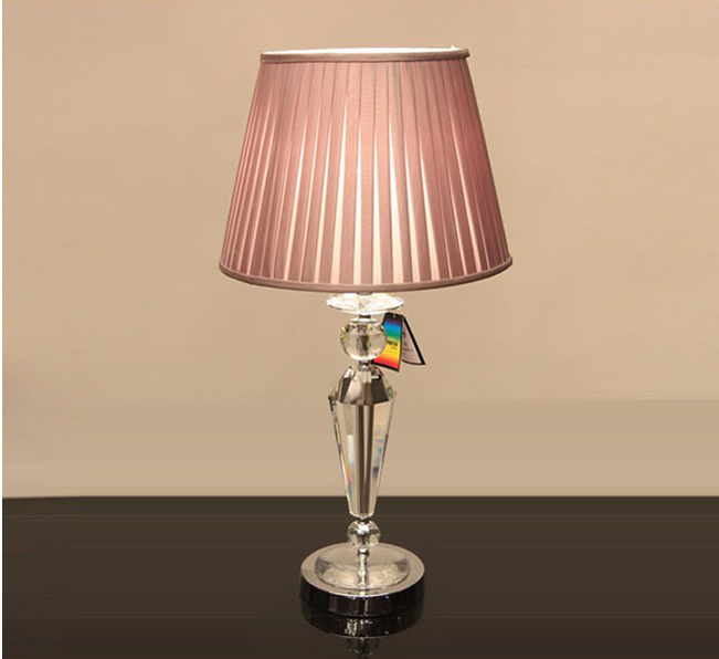 Offwhite Transparent K9 Crystal Table Lamps Chrome At
