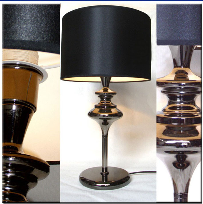 Black Modern Table Lamps, Cloth Art Table Lamps Available