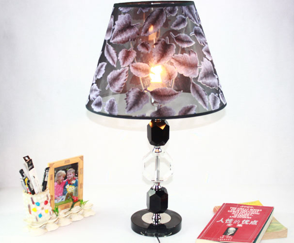 Flocked Silk Cloth K9 Crystal Modern Table Lamps