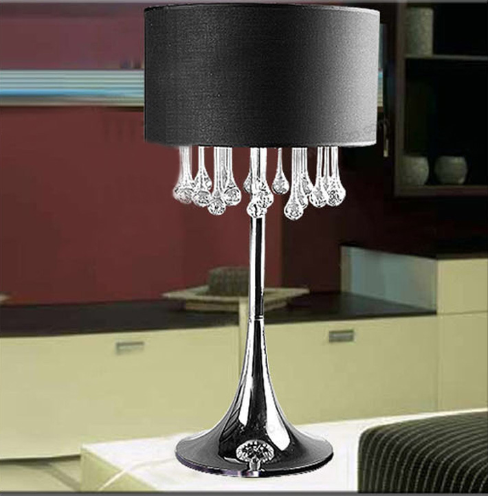 Pastoral simplicity of modern bedroom living room table lamp glass ...
