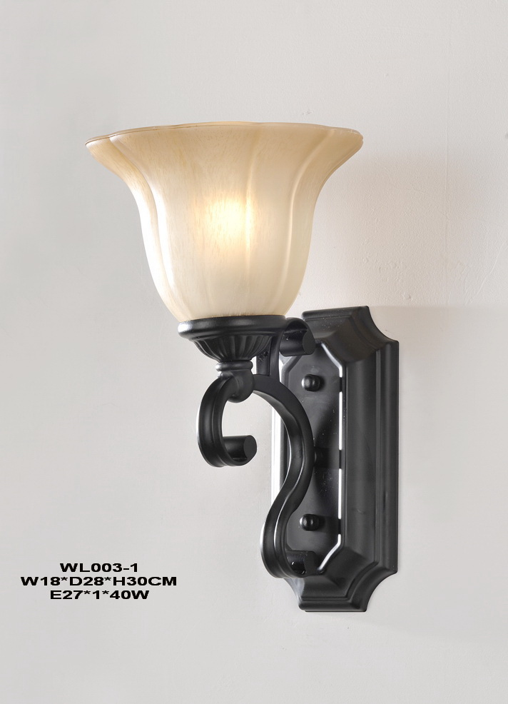 1-Light Black Modern European Wall Lamps