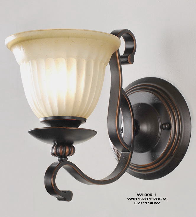 High Quality 1-Light Black with Copper European Wall Lamps