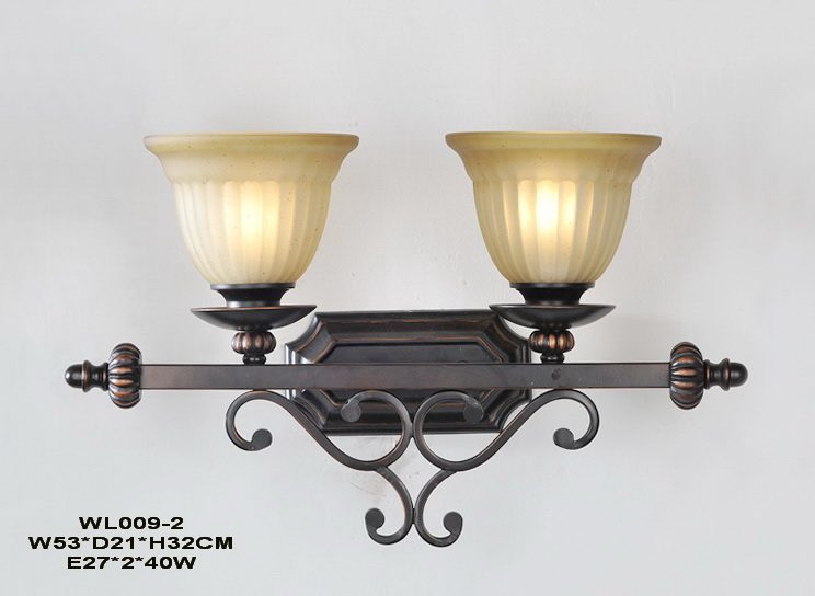 Best 2-Light Black with Copper Antique Wall Lamps
