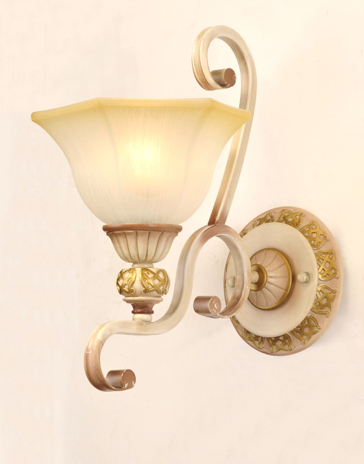 1-Light Petunia-Like Cover Rust Metal Body European Wall Lamps