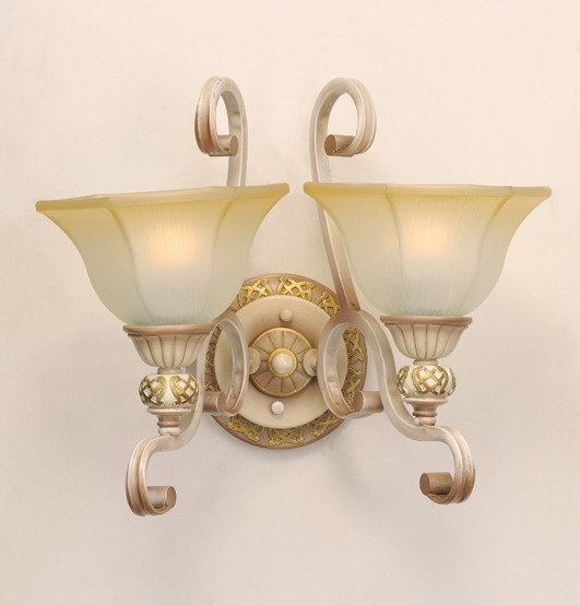 2-Light Petunia-Like Cover Rust Metal Body European Wall Lamps