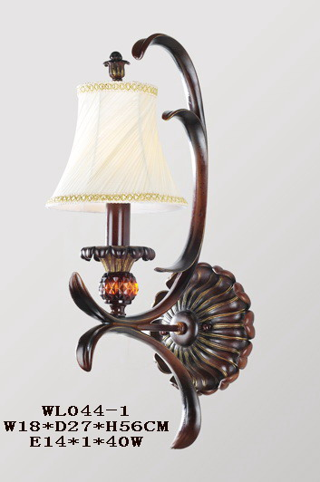 1-Light Cloth Art Cover Antique Copper European Wall Lamps