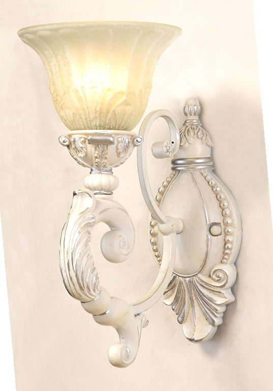 1-Light Antique White European Wall Lamps