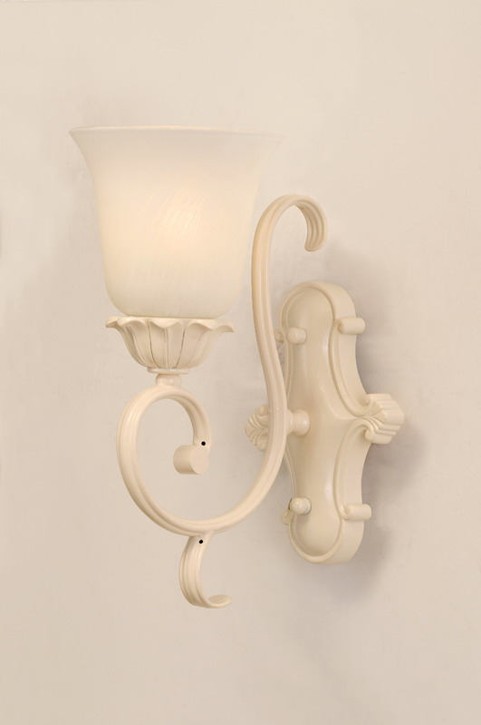 Delicate 1-Light White Bathroom Wall Lamps
