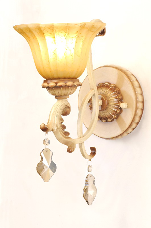 Exquisite 1-Light Antique Appearance Bathroom Wall Lamps